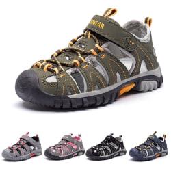 Barn pojkar och flickor små sandaler ihåliga casual skor Svart 21