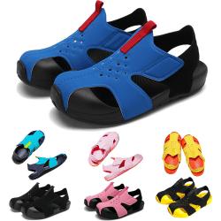 Barn pojkar och flickor utomhus sandaler med halkfria sandaler Svart 33
