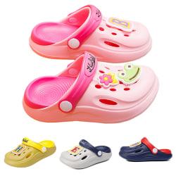 Barn pojkar och flickor två bär tofflor sandaler strandskor Grå 24