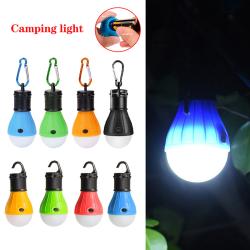 Camping tält glödlampa 3 Mode LED utomhus bärbar hängande Blå med karbinhake