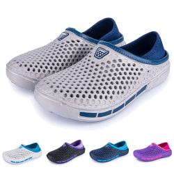 Unisex tofflor med tofflor och platta skor som andas Svart 36