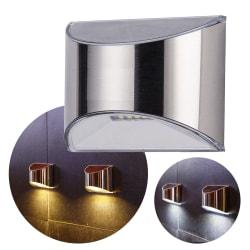 Soldriven 4 LED vägglampor staket trädgårdslampa vattentät Vitt ljus
