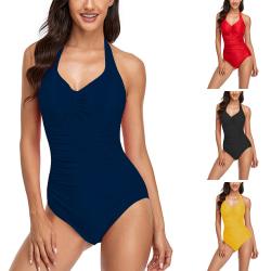 Kvinnor Bikini Push-Up Vadderad Baddräkt Badkläder Strandkläder Svart XXL