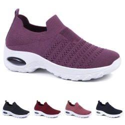 Kvinnors avslappnade skor mode sportskor sommar utomhusskor lila 40