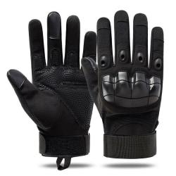 Män Full Finger Hard Knuckle Handskar Taktisk Combat Jakt Svart XL
