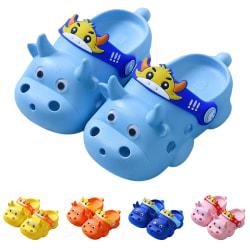 Pojkar och flickor barn söta ihåliga tofflor hål skor Orange 17