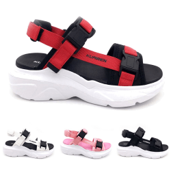 Unisex pojkar och tjejer mode sandaler utomhus strandskor Svart 36
