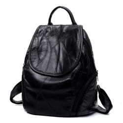 Ryggsäcken i äkta lammskinn, LAMM1014 Svart one size