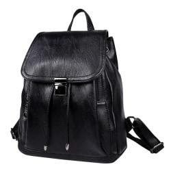 Ryggsäcken i svart, 33x28x14 cm Svart one size