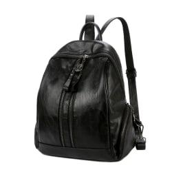 Ryggsäcken i svart, 36x34x17 cm Svart one size