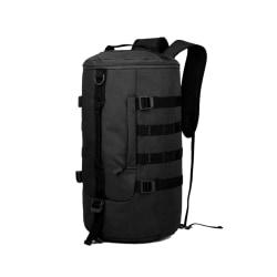 Svart duffel bag i slitstark tyg, 44x27x18 cm modell 2020-6010 Svart one size