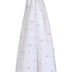 Ekologisk bomullsfilt rosa prickar 70x70 cm