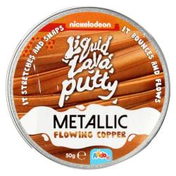 Liquid lava putty metallic flowing copper