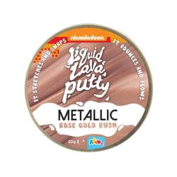 Liquid lava putty metallic rose gold rush