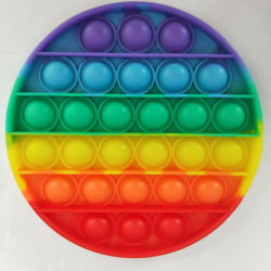 Push pop it rund cirkel 12,5 cm rainbow