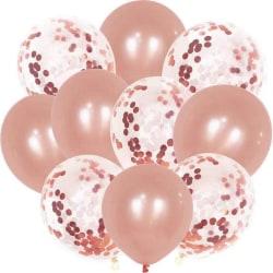 Party-ballonger med konfetti 30-pack Rosa