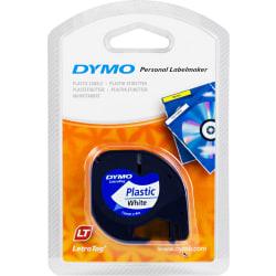DYMO LetraTAG plasttejp, vit, 12mm, 4m (91221)