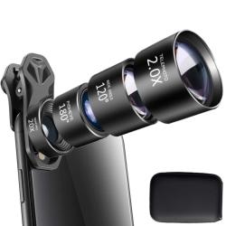Mobilobjektiv 4-i-1 Fisheye + Vidvinkel + Tele + Makro