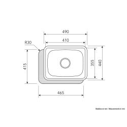 CATA Sink CSS 1 Undermonterad, Fyrkantig, Antal skålar 1, Rostf