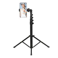 Mobilstativ / kamerastativ (45-160 cm) Svart