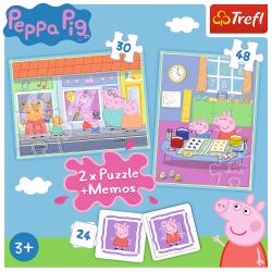 4-i-1 Pussel Peppa Memories