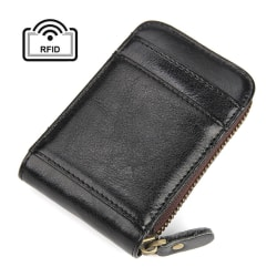 RFID korthållare Äkta läder Svart