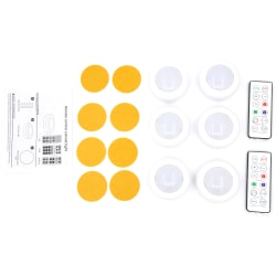 LED-spotlights med fjärrkontroll 6 st
