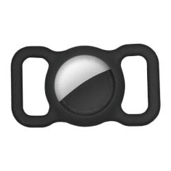 Apple AirTag skal till hundhalsband silikon Svart