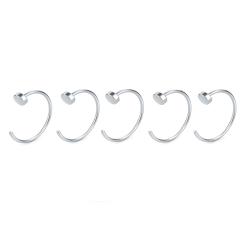 Öppen näsring för fake piercing 5-pack rostfritt stål Silver