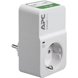 APC PM1WU2-GR, 918 J, 1 AC-utgångar, 230 V, 50 Hz +/- 5 Hz, Vit