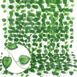 Blomstergirlang Melonlöv 2.1 m Plast Grön
