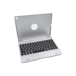 Bluetooth tangentbord med skydd iPad Pro 9.7/ Air 1/2 Silver
