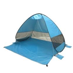 Strandtält pop-up UV 40+ Ljusblå