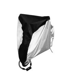 Cykelöverdrag, regnskydd och UV-skydd - Silver/svart