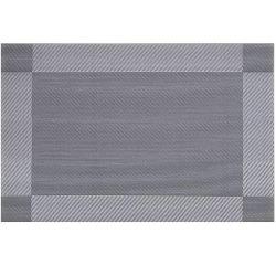 Bordstablett / Underlägg PVC Silver 4-pack
