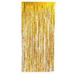 Festlig glittergardin i guld 1x2 meter