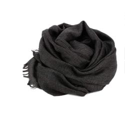 Halsduk 180x100 cm bomull/linne Mörkgrå