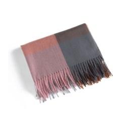 Halsduk 180x70 cm Rosa/Grå rutig