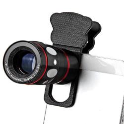 Universal Mobilobjektiv 4-in-1 tele/vidvinkel/fisheye/makro