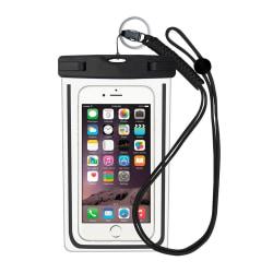 Vattentät mobilväska för smartphone - universal - svart