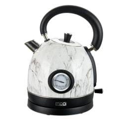 MOA Elektrisk Vattenkokare Retro marmor 1,8 liter rostfritt stål