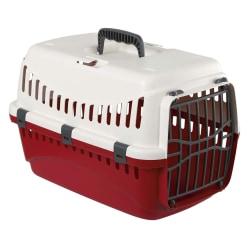 Transportlåda med plastkräm / vinröd