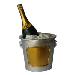 Anniversary House Champers Ice Bucket Cake Decoration Topper One Multicoloured One Size