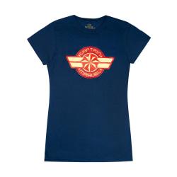Captain Marvel T-shirt med logga för kvinnor/damer XXL marinblå Navy XXL