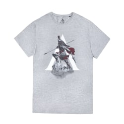 Assassins Creed Odyssey Mens The Knight T-Shirt XXL Grå Grey XXL