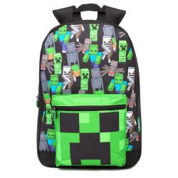Minecraft Barn/Barn All-Over Print Ryggsäck En Storlek Svart/ Black/Green One Size
