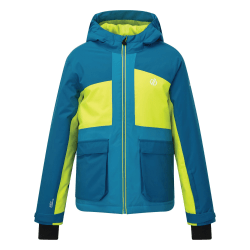 Dare 2B Childrens / Kids Esteem Insulated Ski Jacket 13 Years Petr Petrol Blue/Lime Punch 13 Years
