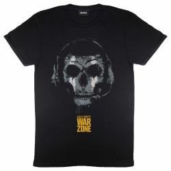 Call Of Duty Mens Warzone Skull Headset T-Shirt 5XL Svart Black 5XL