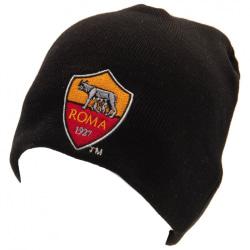 AS Roma Champions League Stickad mössa One Size Black Black One Size