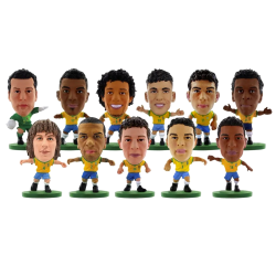 Brasil SoccerStarz Team Figures Pack of 11 One Size Yellow / Green Yellow/Green One Size